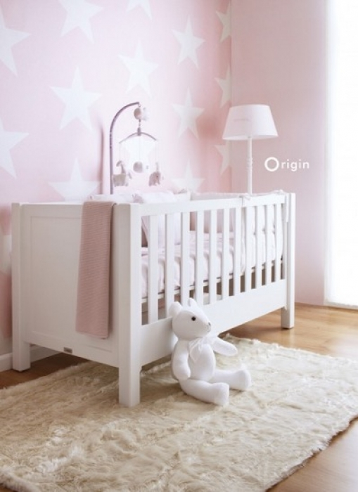 kinderzimmer tapete mit sternen rosa. Black Bedroom Furniture Sets. Home Design Ideas