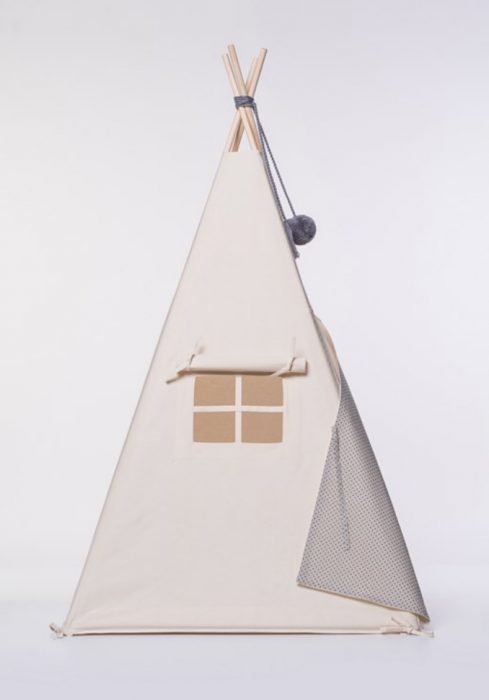 tipi zelt grau mit sternen tipi kinderzelt tipi kaufen. Black Bedroom Furniture Sets. Home Design Ideas