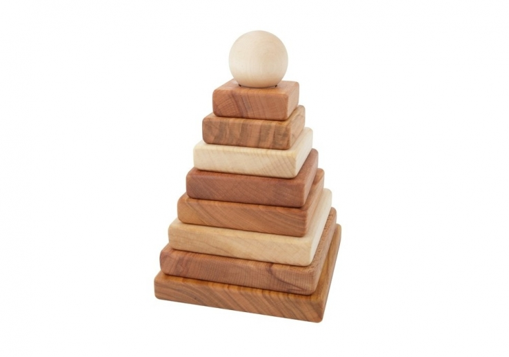 Stapelpyramide Holz eckig | Wooden Story Stapelpyramide bei Harmony Ambiente Wien & online kaufen