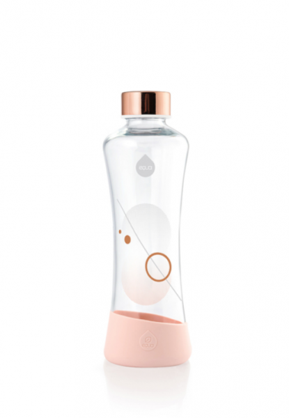 Equa Glasflasche Metallic Rose Gold  - Harmony Ambiente Wien