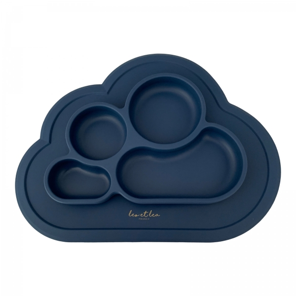 Silikon Baby Teller CLOUD - deep blue